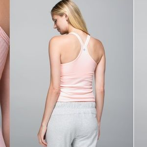 Lululemon ebb you street tank pink parfait ribbed